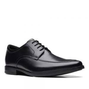 Clarks Howard Apron Black Leather. Premium Shoes