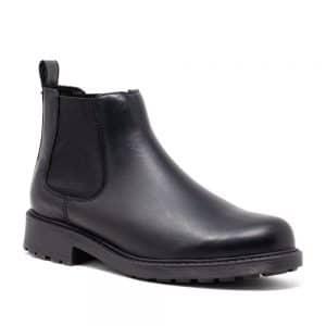 CLARKS Orinoco2 Lane Black. Premium Leather Shoes
