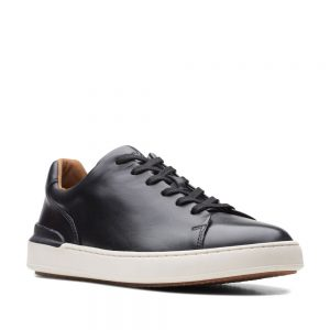 CLARKS CourtLite Lace Black Leather