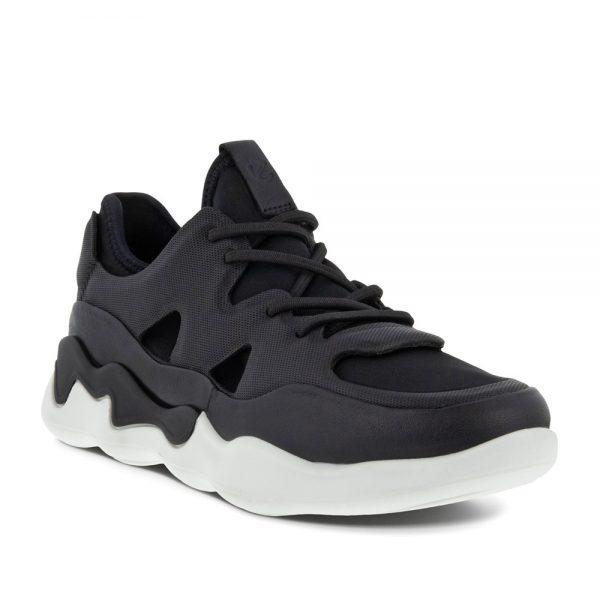 Ecco Elo W. Premium Black Leather Sneakers