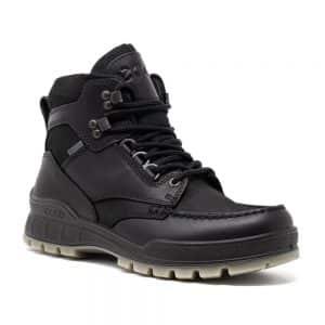 Ecco Track 25 Mid GTX Black. Premium Leather Shoes