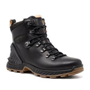 Ecco Exohike M Black. Premium Leather Shoes
