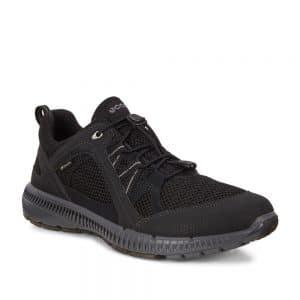 Ecco Terracruise II W GTX. Premium Black Textile Sneakers