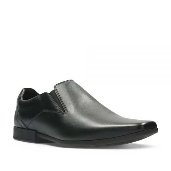 CLARKS Glement Slip Black Leather