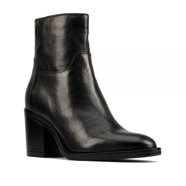 CLARKS Mascarpone 2 Go Black Leather