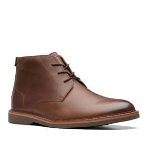Clarks Atticus LT Mid Dark Tan Leather