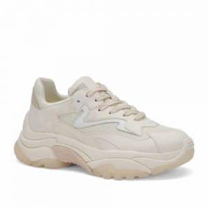 Ash Addict Sneakers Cream Suede and Mesh