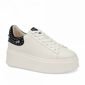 Ash Moby Studs Eco Trainers White and Black