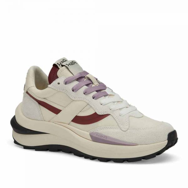 Ash Spider 620-01 BE KIND Off White and Burgundy