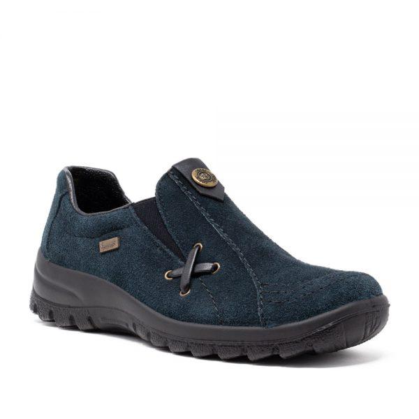 Rieker L7171-14 Blue Suede Ladies Slip On Shoes