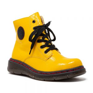 Rieker Y3200-68 Ladies Yellow Ankle Boots