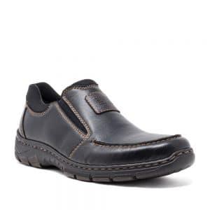 Rieker 19961-03 Men's Black Slip On Shoes