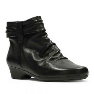 CLARKS Matron Ella Black Leather