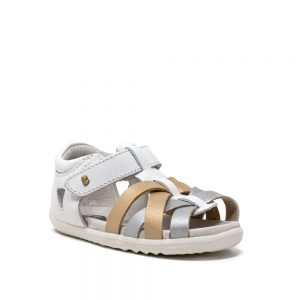 Bobux Tropicana White Gold Silver Step Up
