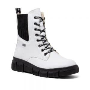 Rieker X3414-80 Ladies White Boots